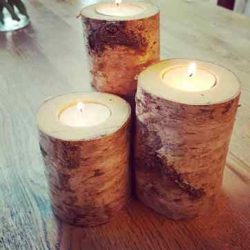 Birch Candles Set £8 or £3 each
