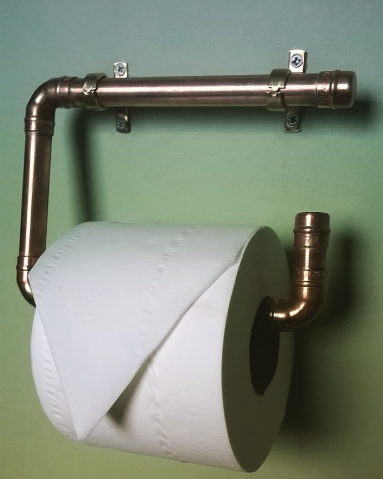 Copper Pipe Toilet Roll Holder £15