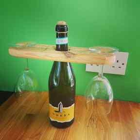 Wine Bottle Glass Holder £12