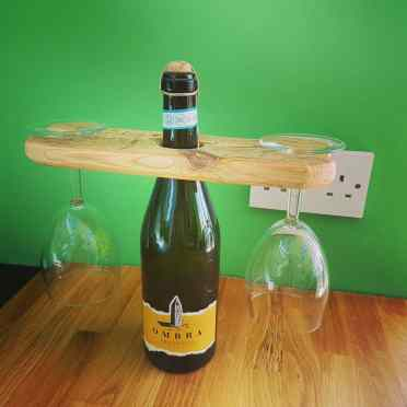 Wine Bottle Glass Holder £12