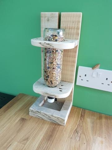 Pallet Wood and Bottle Bird Feeder £20