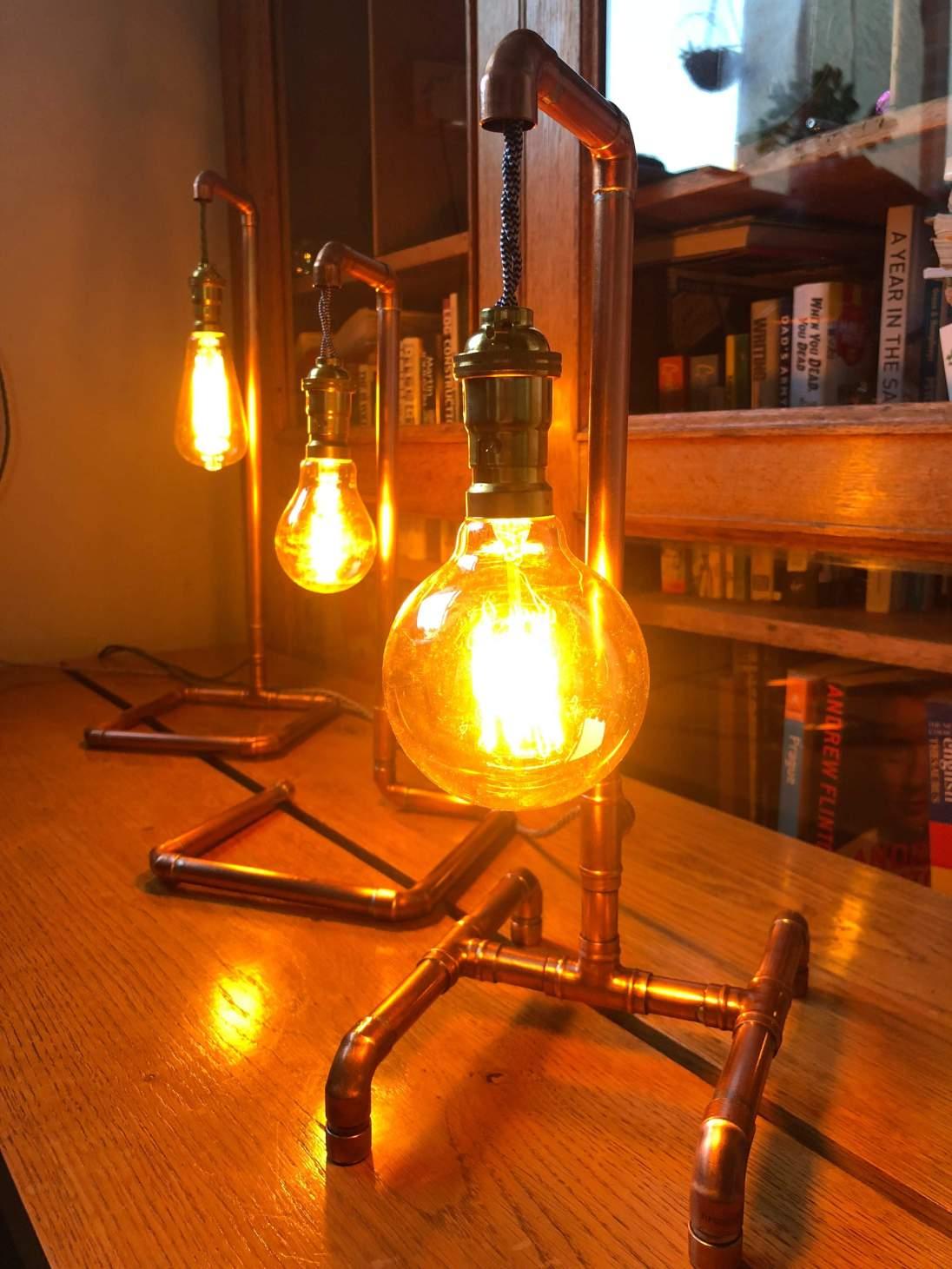 Handmade Copper Pipe lamp £50